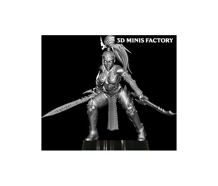 Dark Elf Princess 12 des Dark Elf créé par Avatars of War de 3D Minis Factory