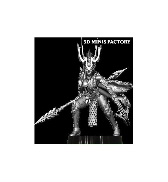 Dark Elf Princess 13 des Dark Elf créé par Avatars of War de 3D Minis Factory