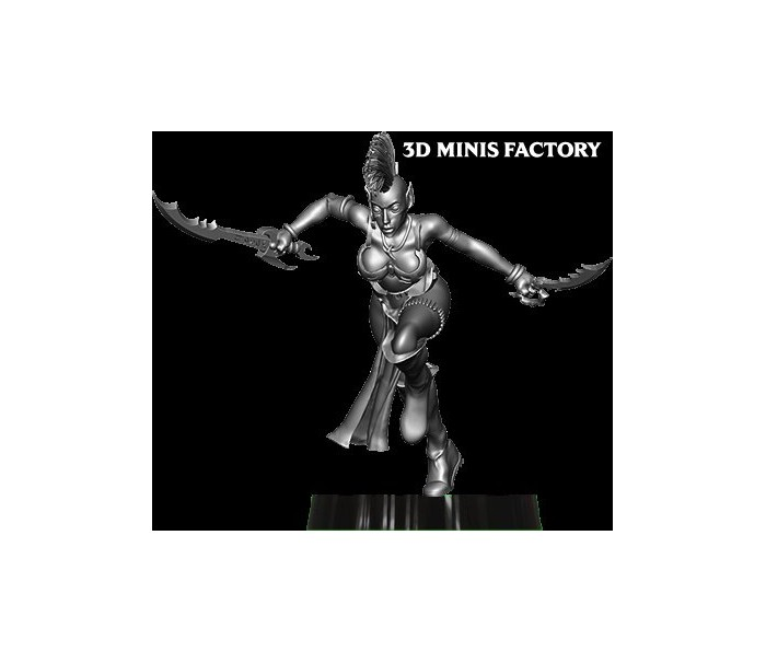 Dark Elf Princess 15 des Dark Elf créé par Avatars of War de 3D Minis Factory