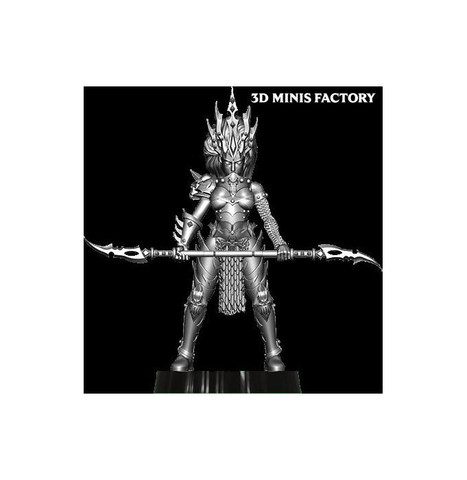 Dark Elf Princess 20 des Dark Elf créé par Avatars of War de 3D Minis Factory