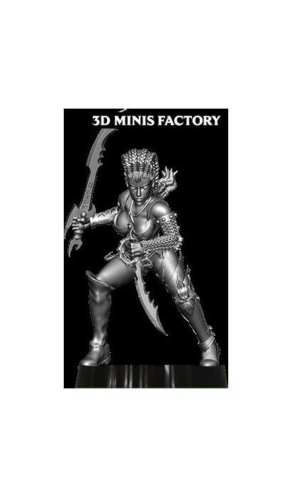 Dark Elf Princess 21 des Dark Elf créé par Avatars of War de 3D Minis Factory