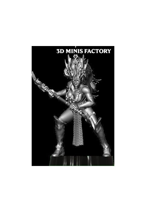 Dark Elf Princess 25 des Dark Elf créé par Avatars of War de 3D Minis Factory