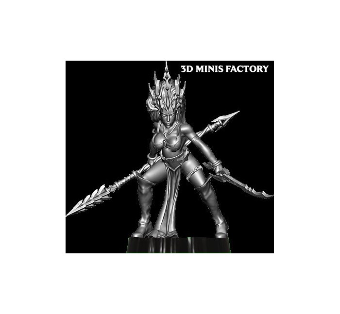 Dark Elf Princess 29 des Dark Elf créé par Avatars of War de 3D Minis Factory