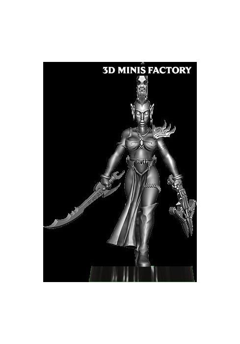 Dark Elf Princess 30 des Dark Elf créé par Avatars of War de 3D Minis Factory