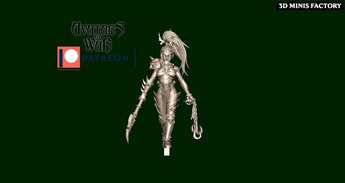 Dark Elf Princess 32 des Dark Elf créé par Avatars of War de 3D Minis Factory