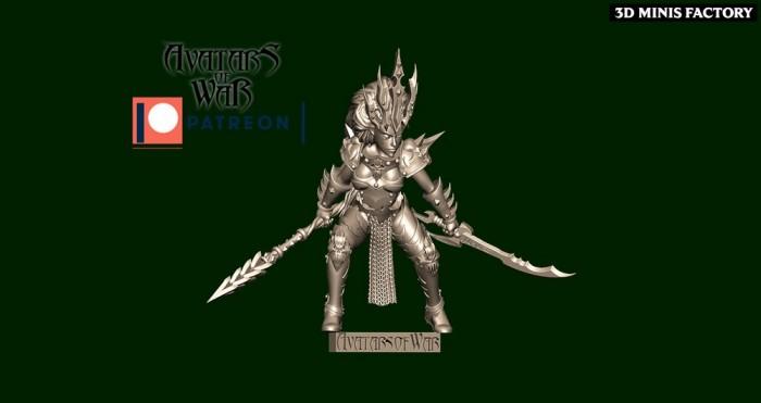 Dark Elf Princess 33 des Dark Elf créé par Avatars of War de 3D Minis Factory
