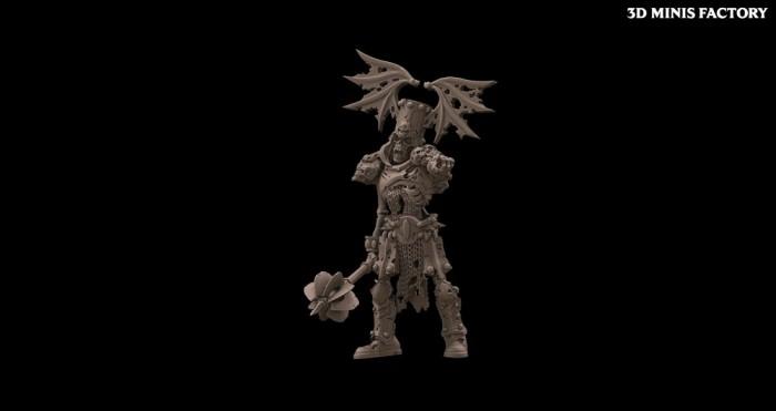Undead Character 8 des Undead créé par Avatars of War de 3D Minis Factory