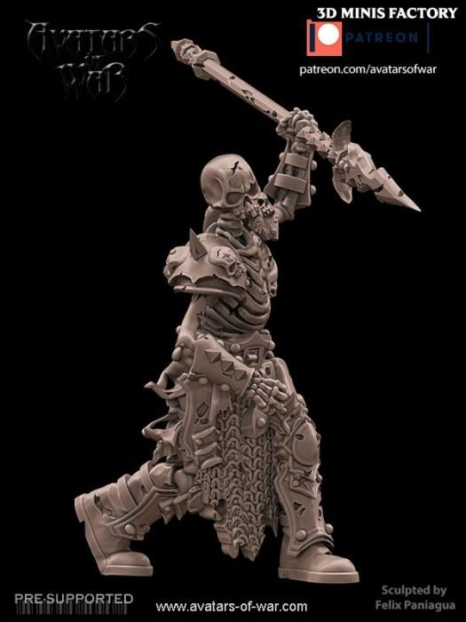 Undead Character 18 des Undead créé par Avatars of War de 3D Minis Factory