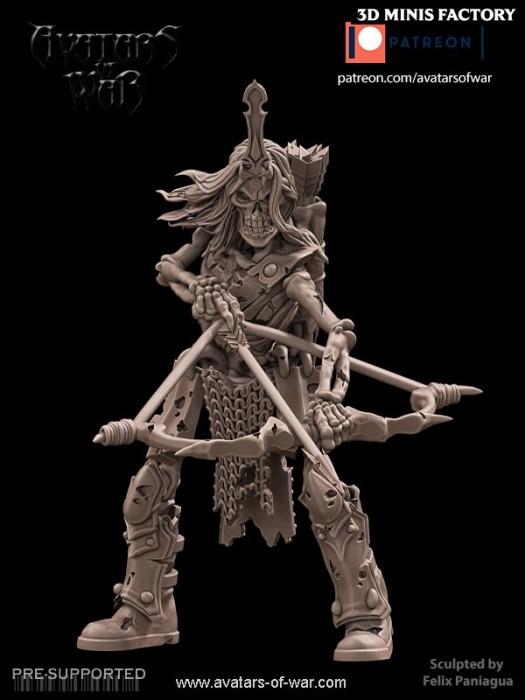 Undead Character 21 des Undead créé par Avatars of War de 3D Minis Factory
