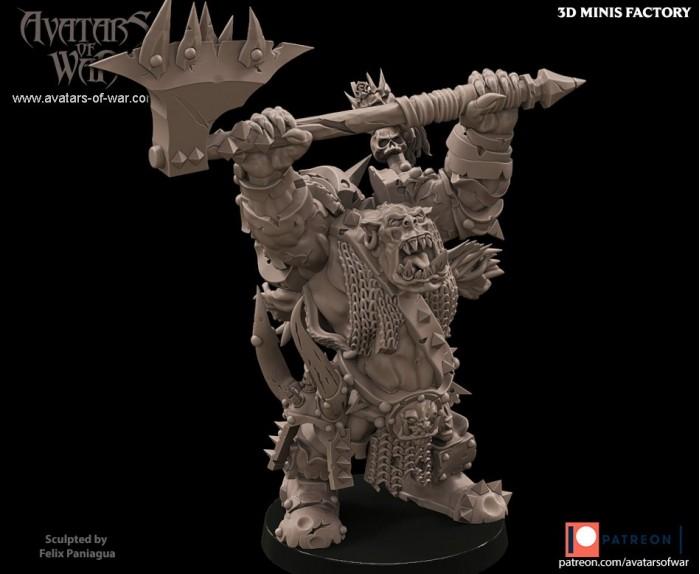 Boss Orc Character 4 des Orcs créé par Avatars of War de 3D Minis Factory