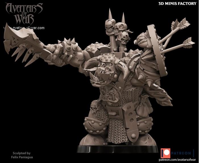 Orc Character 14 des Orcs créé par Avatars of War de 3D Minis Factory