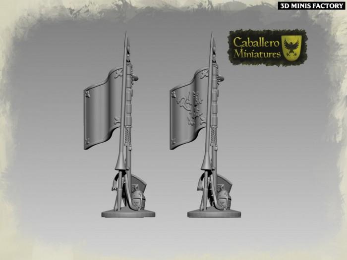 Game accessories des Wargames créé par Caballero Miniatures de 3D Minis Factory