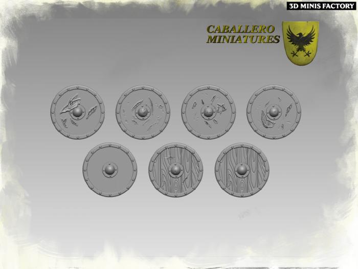 Viking Shields des Wargames créé par Caballero Miniatures de 3D Minis Factory