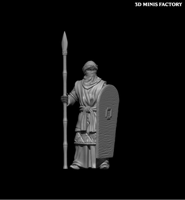Black Guard des 11th Century Spanish Crusader créé par Caballero Miniatures de 3D Minis Factory