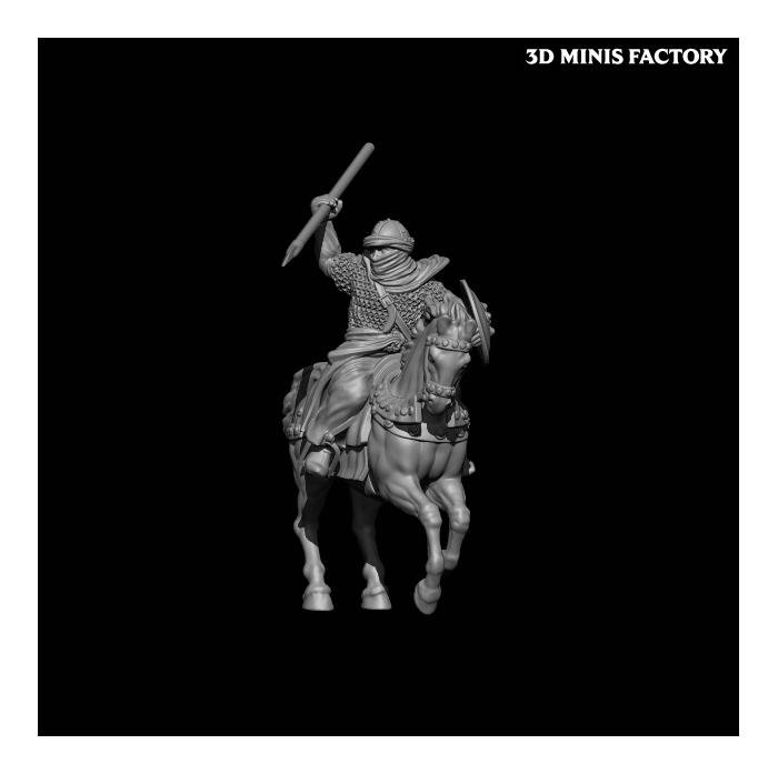 Almoravid Horsemen des 11th Century Spanish Crusader créé par Caballero Miniatures de 3D Minis Factory