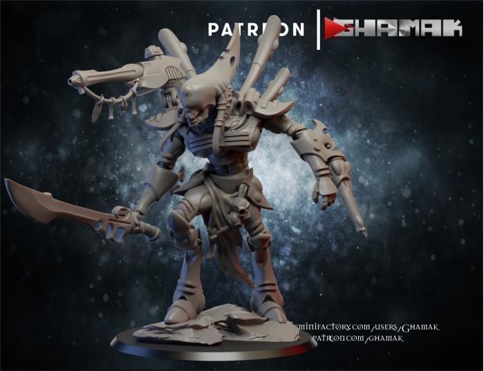 Lord of Wraith des Eldars créé par Ghamak de 3D Minis Factory