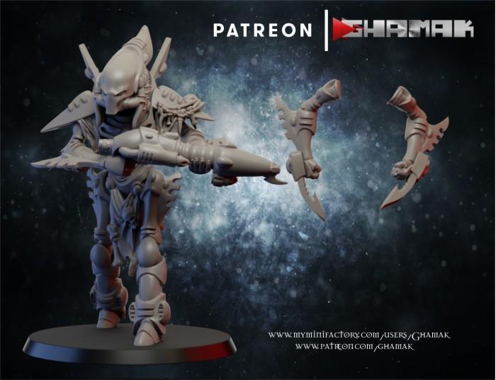 Wraith 1 des Eldars créé par Ghamak de 3D Minis Factory