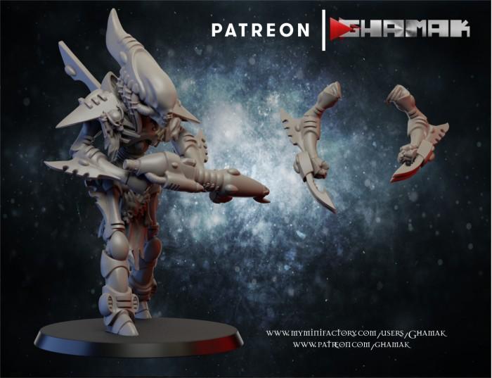 Wraith 2 des Eldars créé par Ghamak de 3D Minis Factory