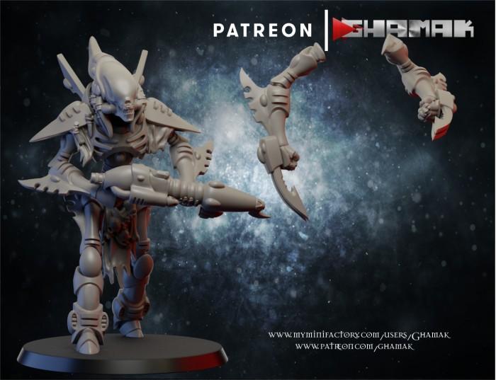 Wraith 4 des Eldars créé par Ghamak de 3D Minis Factory