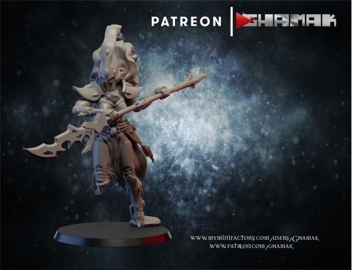 Screamer warrior 2 des Eldars créé par Ghamak de 3D Minis Factory