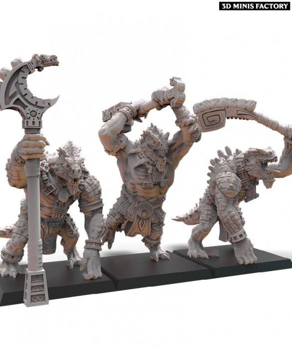 Cipactli Unit des Anciens Sauriens créé par Lost Kingdom Miniatures de 3D Minis Factory