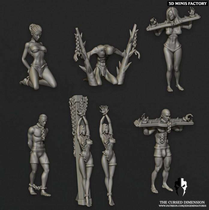 Slaves des Cursed Elves créé par Edge Miniatures de 3D Minis Factory