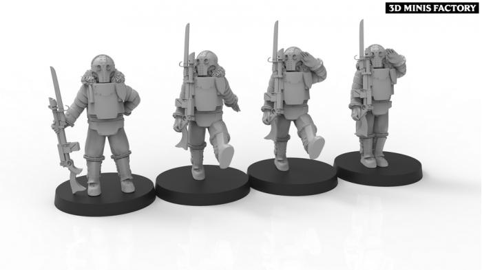 Lunar Auxilia Parade Troops des Lunar Auxilia (Astra Militarum) créé par ThatEvilOne de 3D Minis Factory