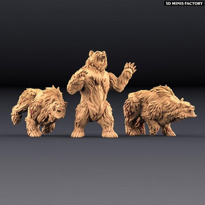 Giant Bears - 3 variantes des Amazons KickStarter créé par Artisan Guild de 3D Minis Factory
