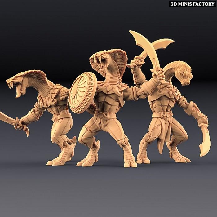 Snakeman - 3 variantes des Amazons KickStarter créé par Artisan Guild de 3D Minis Factory