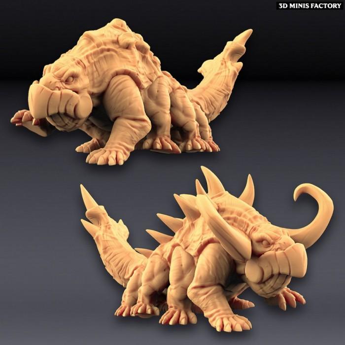 Giant Salamanders - 2 variantes des Amazons KickStarter créé par Artisan Guild de 3D Minis Factory