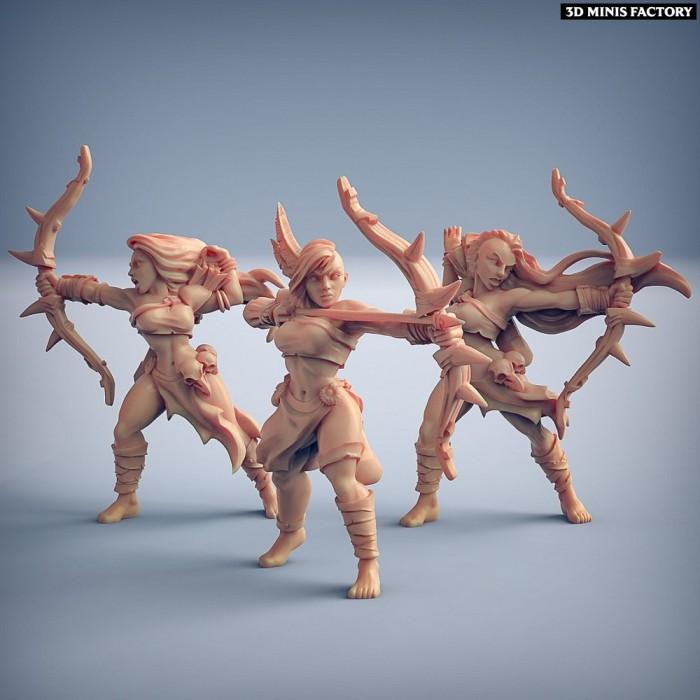 Amazon Archers - 3 variantes des Amazons KickStarter créé par Artisan Guild de 3D Minis Factory
