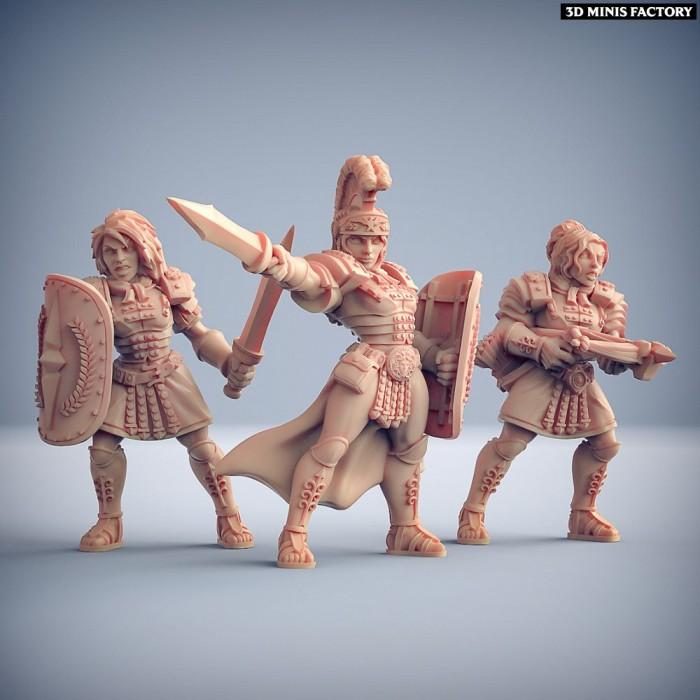 Former Legionnaires - 3 variantes des Amazons KickStarter créé par Artisan Guild de 3D Minis Factory