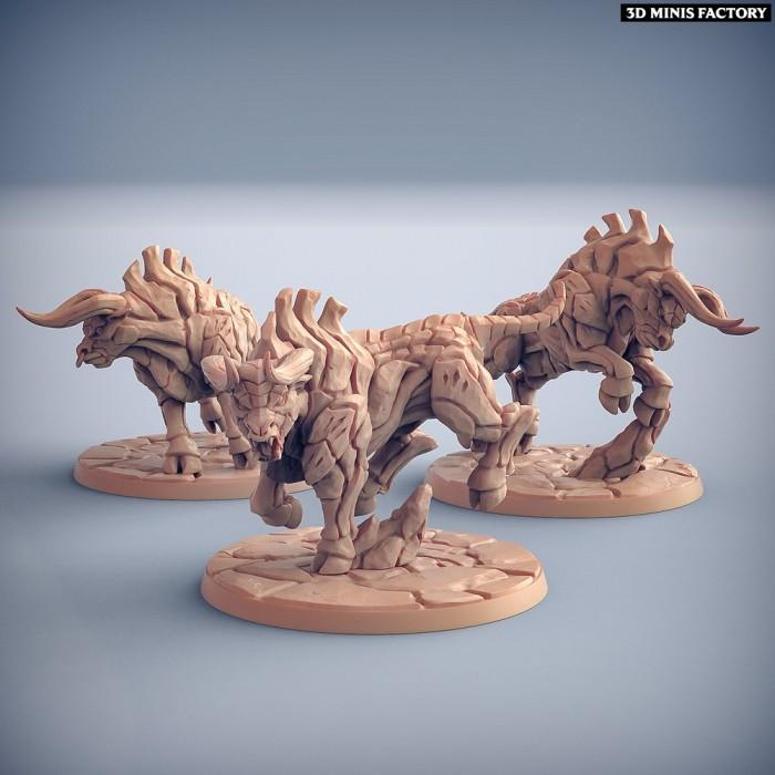 Kalkotaurs - 3 variantes des Dumlok Flameseekers créé par Artisan Guild de 3D Minis Factory