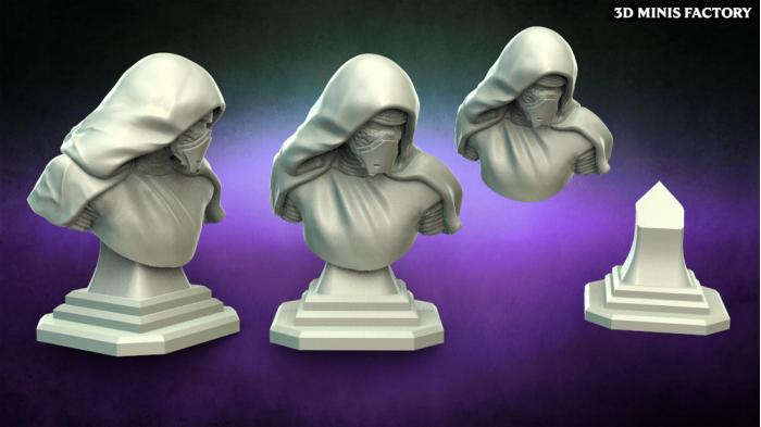 Kylo Buste des Warblades Studio - Figurines de Collection créé par Warblade Studio de 3D Minis Factory