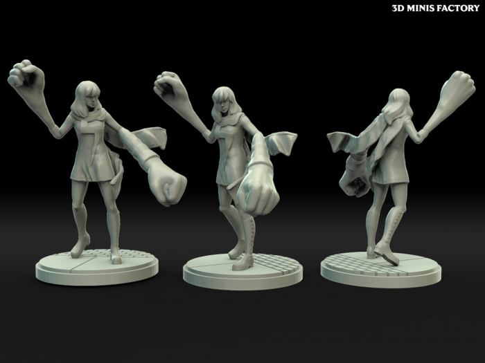 Mrs Marvel des Comics créé par Legion Miniatures de 3D Minis Factory
