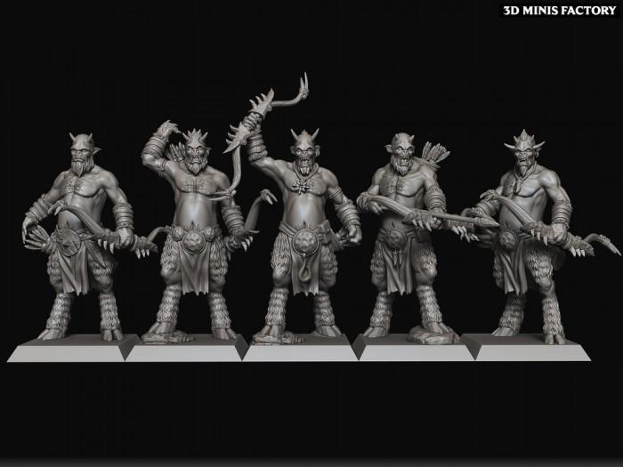Mongrel Raiders des Beast Herds créé par Raven twin Miniatures de 3D Minis Factory