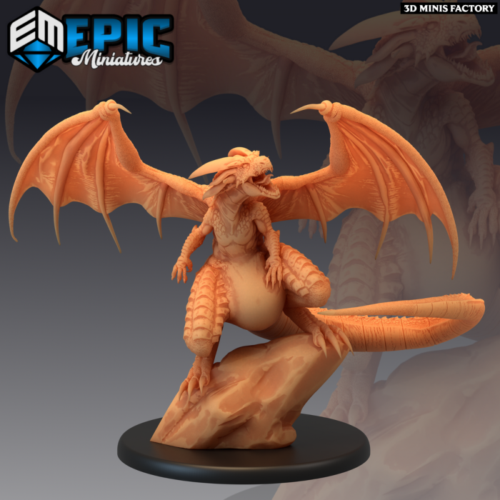 Fafnir Roar des Norse Raiders créé par Epic Miniatures de 3D Minis Factory