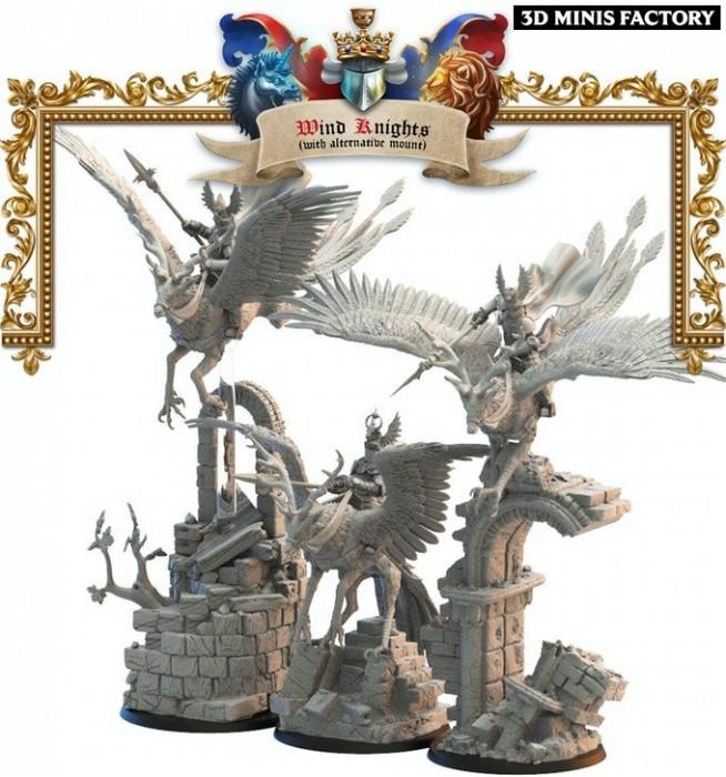 Wind Knights Alternative Mounts and knights des Royaume de Mercia créé par Lost Kingdom Miniatures de 3D Minis Factory