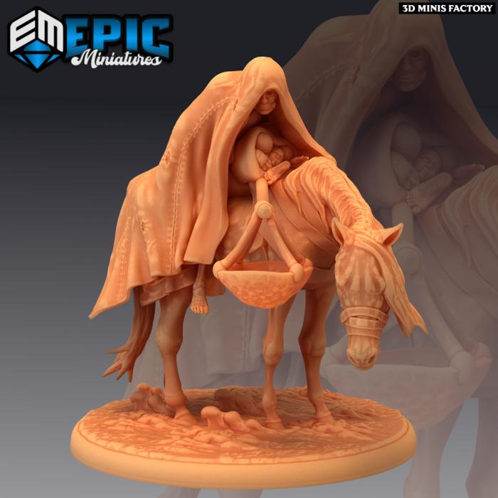 Horsman of Famine des Norse Raiders créé par Epic Miniatures de 3D Minis Factory