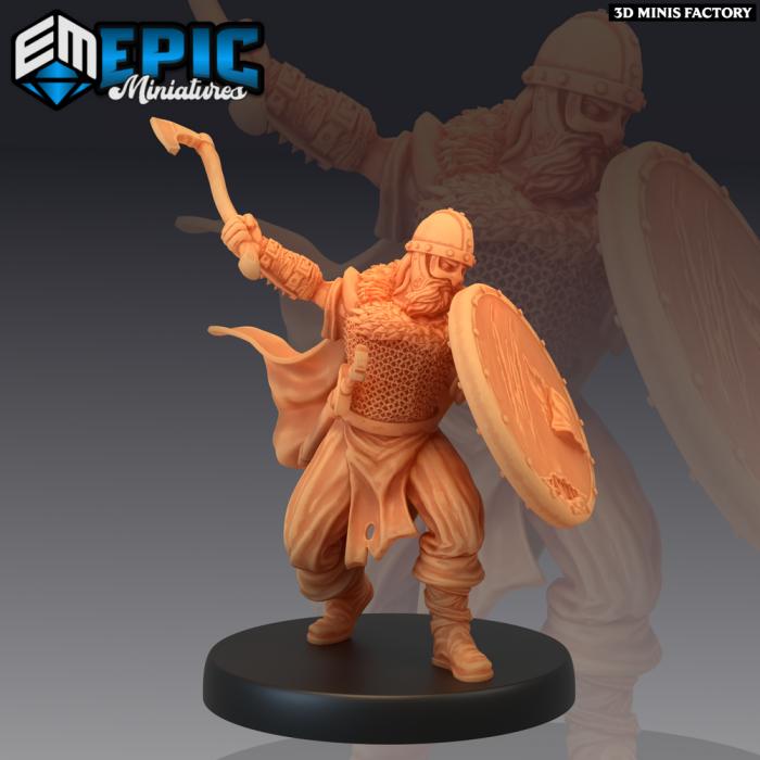 Viking Warrior Shield des Norse Raiders créé par Epic Miniatures de 3D Minis Factory