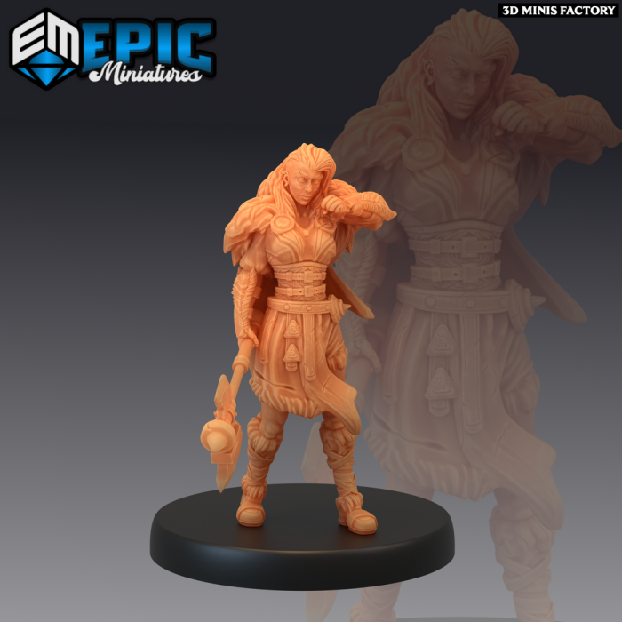 Viking Raider Female des Norse Raiders créé par Epic Miniatures de 3D Minis Factory