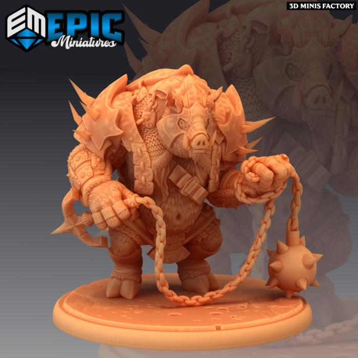 Pigserker des Norse Raiders créé par Epic Miniatures de 3D Minis Factory