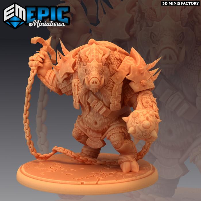 Pigserker Attacking des Norse Raiders créé par Epic Miniatures de 3D Minis Factory