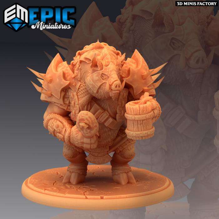 Pigserker Drinking des Norse Raiders créé par Epic Miniatures de 3D Minis Factory