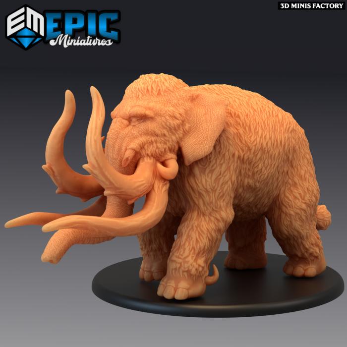 Dire Mammoth des Norse Raiders créé par Epic Miniatures de 3D Minis Factory