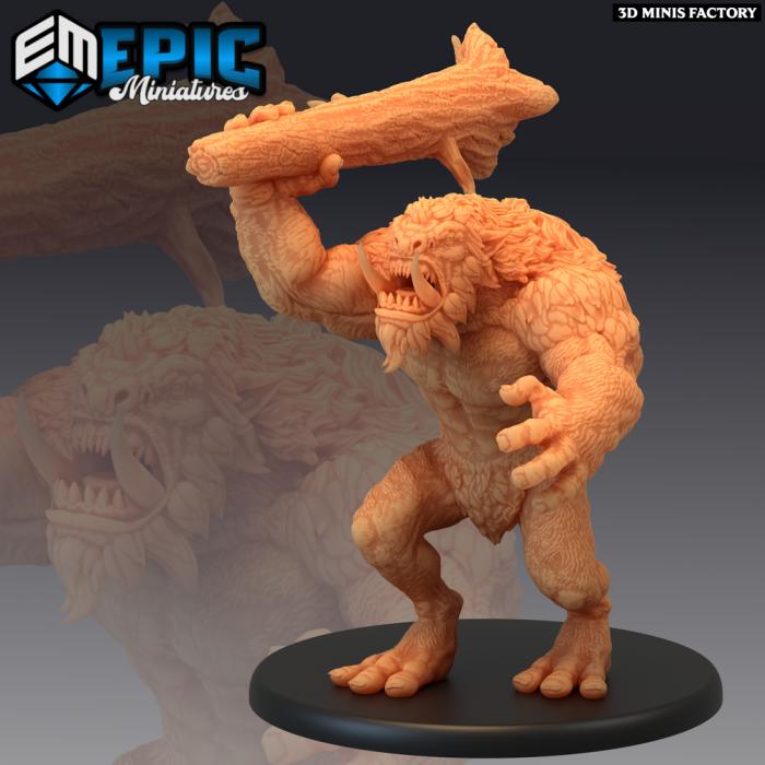 Norse Troll Attacking des Norse Raiders créé par Epic Miniatures de 3D Minis Factory