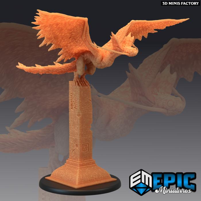 Snow Wyvern Pillar des Norse Raiders créé par Epic Miniatures de 3D Minis Factory