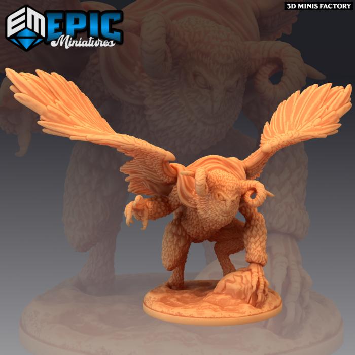 Owl Goddess Wings des Norse Raiders créé par Epic Miniatures de 3D Minis Factory