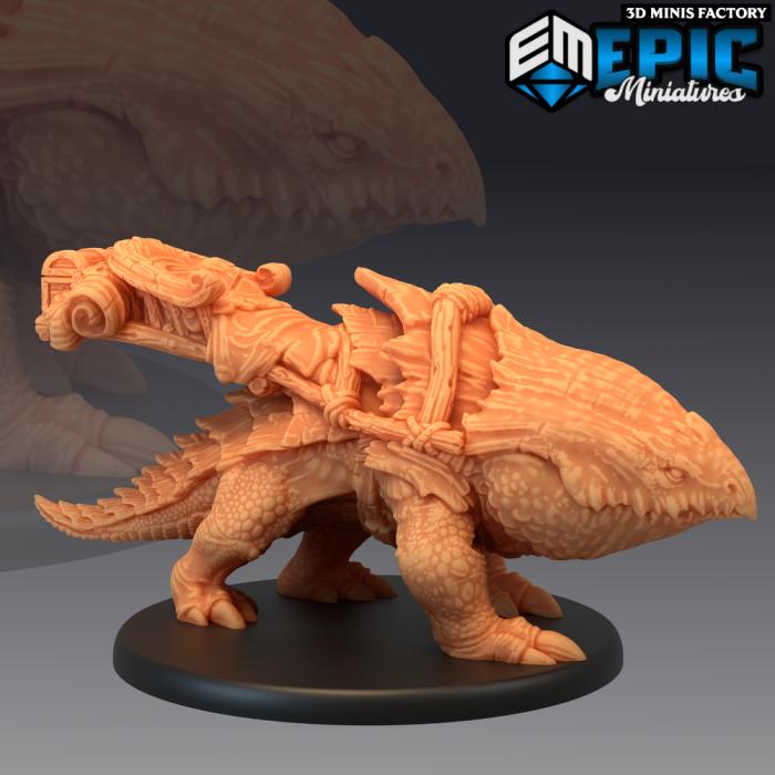 Bulette Mount des Norse Raiders créé par Epic Miniatures de 3D Minis Factory