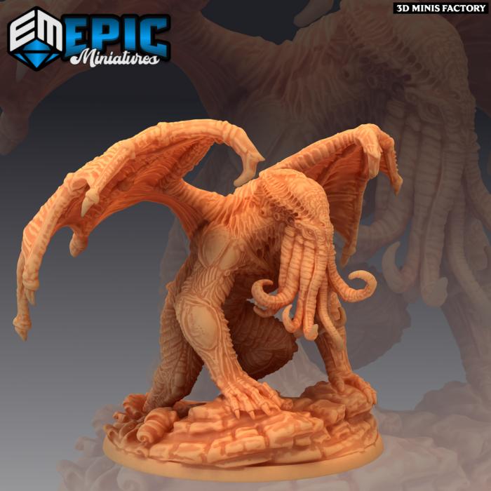 Star Spawn Emerging des Endless Nightmare créé par Epic Miniatures de 3D Minis Factory